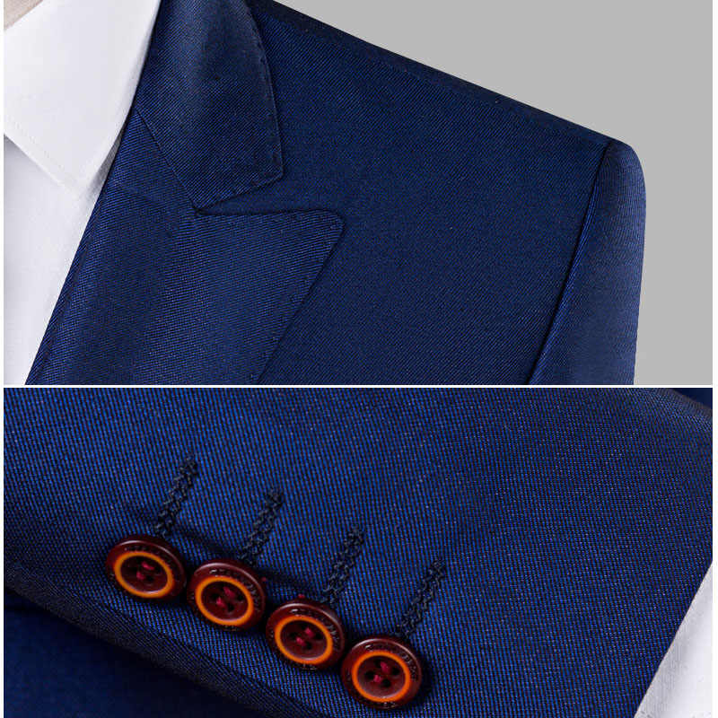 Men Double Breasted Suit Top Brand 3 Pieces Groom Wedding Suit Tuxedo Mens Party Host Costume Slim Male Suit Autumn Winter