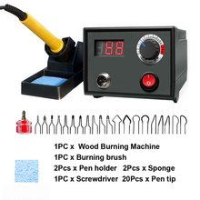 Kit de máquina para quemar madera con tornillo, pantalla Digital, temperatura ajustable, cuero, multifunción, grabado, herramientas de pirograbado
