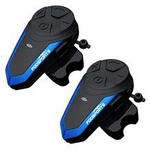 купить 2 pcs BT-S3 Motorcycle Helmet Intercom Moto Wireless Helmet Bluetooth Headset Intercomunicador Waterproof 1000M BT Interphone FM дешево