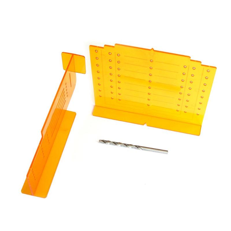 Multi-functional Woodworking Hinge Drilling Non-rusting Holes Punching Drill Hole Opener DIY Tool For Template Door Cabinet
