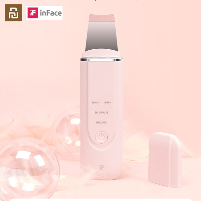InFace Ultrasonic Ion Cleansing Instrument Massage Skin Scrubber Peeling Shovel Facial Pore Cleaner Machine For Girls/women