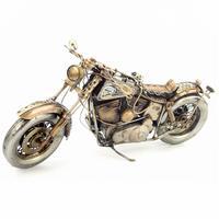 Antyczny klasyczny model motocykla retro vintage kute metalowe rzemiosła dla domu/pub/dekoracja do kawiarni lub prezent urodzinowy w Figurki i miniatury od Dom i ogród na