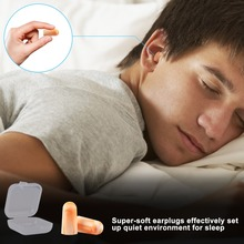 1 Pair Dropship Ear Protector Travel Plugs Sleep Noise Reduce Soft Foam Earplugs