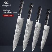 9 10 11 12 Polegada facas do chef gyuto vg10 damasco cutelo de cozinha aço facas utilitário cozinhar japonês corte gyuto chef faca