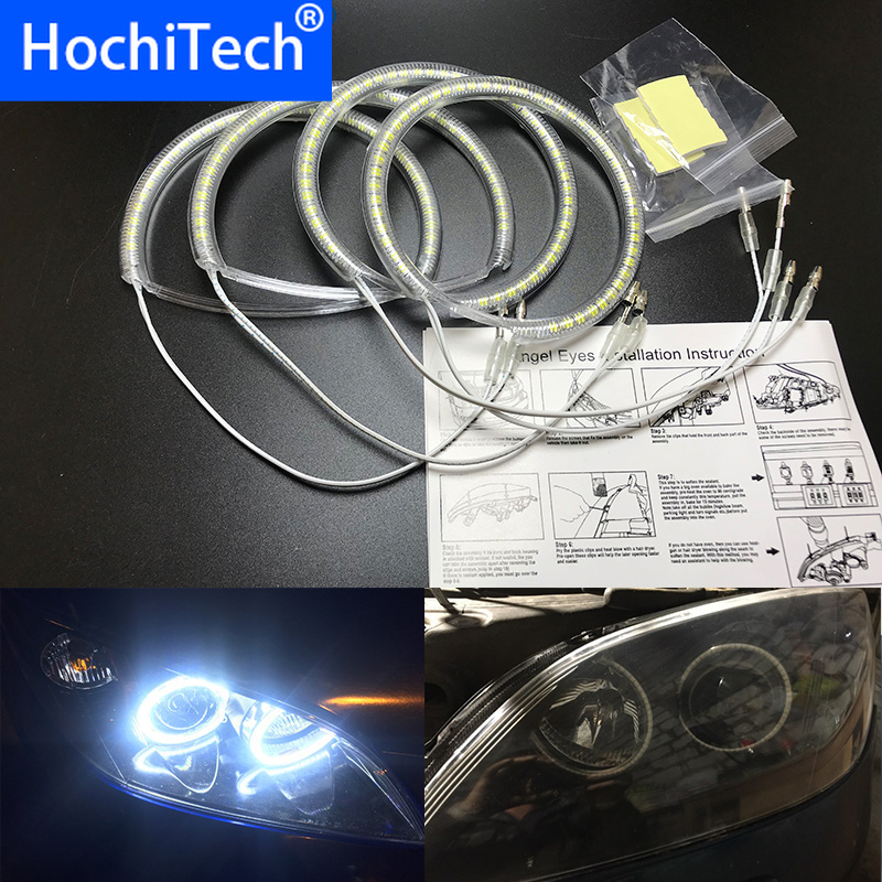 Ultra bright SMD white LED angel eyes halo ring kit daytime running light DRL for <font><b>Mazda</b></font> <font><b>3</b></font> mazda3 2002 2003 <font><b>2004</b></font> 2005 2006 2007 image
