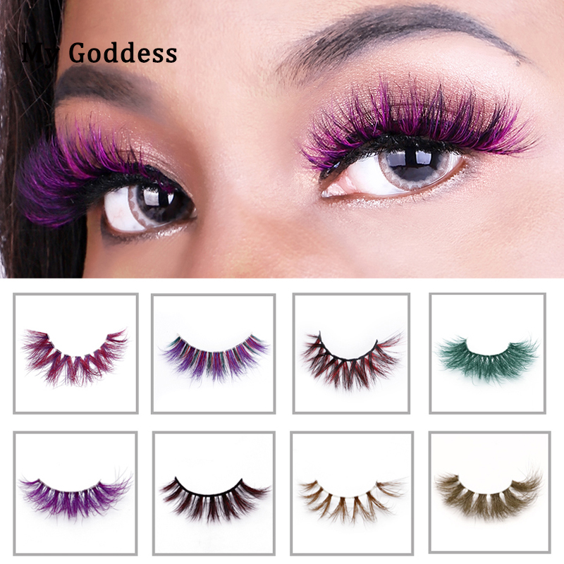 9d Mink Colour Eyelashes Natural Faux Cils Cosplay Cosplay Lashes