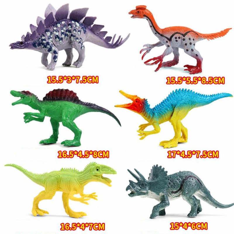 24 estilo Simulação DIY Mini Modelo de Dinossauro Conjunto Criativo Animais Figuras de Ação Conjunto de Brinquedos Educativos Presentes Para Crianças Crianças Menino
