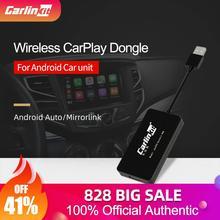 Carlinkit-dongle usb para transmissão de carro, compatível com android modificada, tocador multimídia de carro, bluetooth, conexão automática, mirrorlink 3