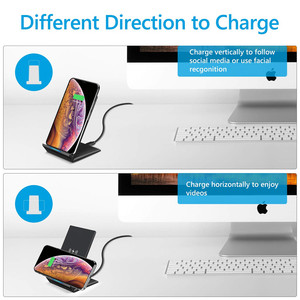 Image 5 - 15W Qi מהיר טעינה אלחוטי מהיר מטען USB סוג C QC 3.0 נייד טלפון תחנת עבור iPhone 12 11 X סמסונג s9 Xiaomi Huawei