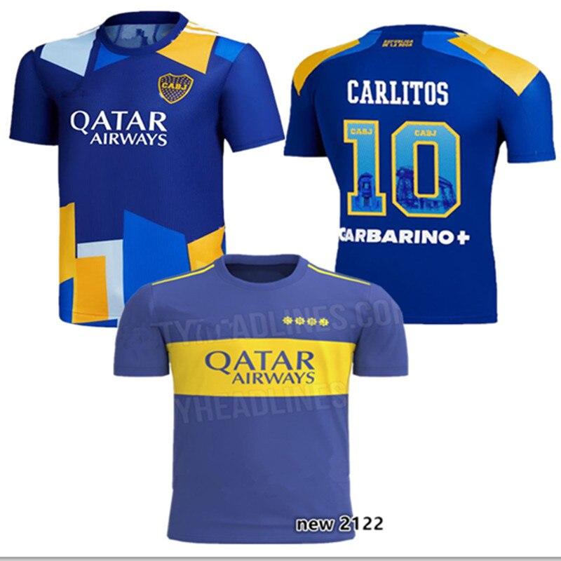ROMAN new Home 2021/2022 Boca shirt Third CARLITOS ABILA TEVEZ MARADONA MOURA DE ROSSI SALVIO CARLITOS MARADONA Top Quality