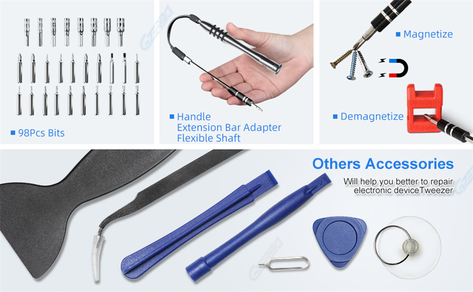 GZERMA screwdriver sets with other accessories