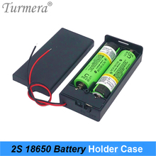 3.7V 2x 18650 Battery Holder Connector Storage Case Box with ON/OFF Switch with Cable for Power Bank or Battery Pack Use Turmera 2xaa battery holder case box with cover xh2 54 2p cable switch