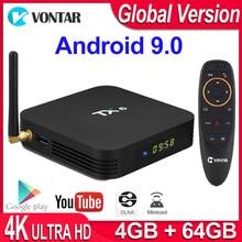 Reprodutor de mídia esperto da caixa de tevê de android 9.0 tx6 allwinner h6 2gb/4gb ddr3 ram 32gb/64gb 2.4g/5ghz wifi bt4.1 h.265 4k