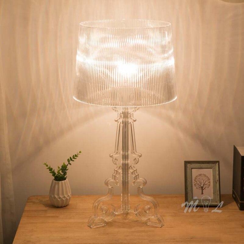 Прозрачные Акриловые Настольные лампы для гостиной рядом с лампой для дома декоративная настольная лампа все акриловые абажур для тела лам...