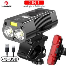 X Tiger Bike Light Headlight Bicycle Lamp With Power Bank Rechargeable LED 5200mAh MTB Bicycle Light Flashlight Bike Accessories
