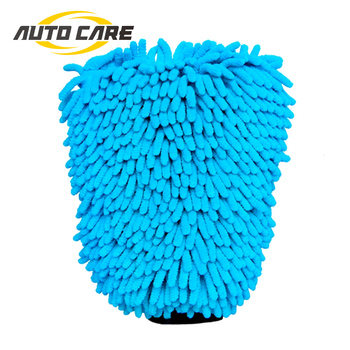 2 IN 1 Microfiber Chenille Car Wash Mitt/Glove Blue Green Orange 3 Colors Available Now Car Cleaning Pad