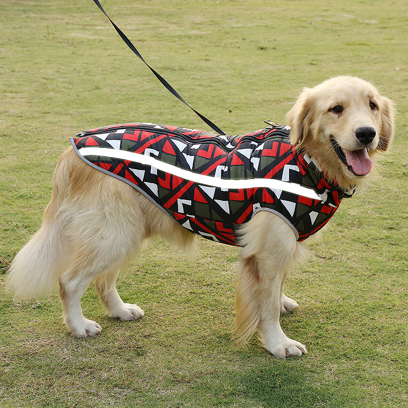 Warm and Waterproof Dog Jacket for Large Dogs with Strong Teeth Zipper Design 9