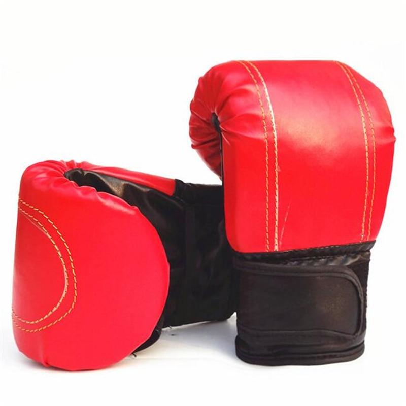 1Pair Red&Black Adult Boxing Gloves Men/women Boxing Gloves For Training / Fitness / Exercise Professional Sandbag Liner Gloves