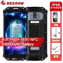 "OUKITEL WP2 10000mAh Smartphone IP68 방수 6.0 ""18:9 스크린 휴대 전화 4GB 64GB MT6750T Octa 코어 지문 NFC 전화"
