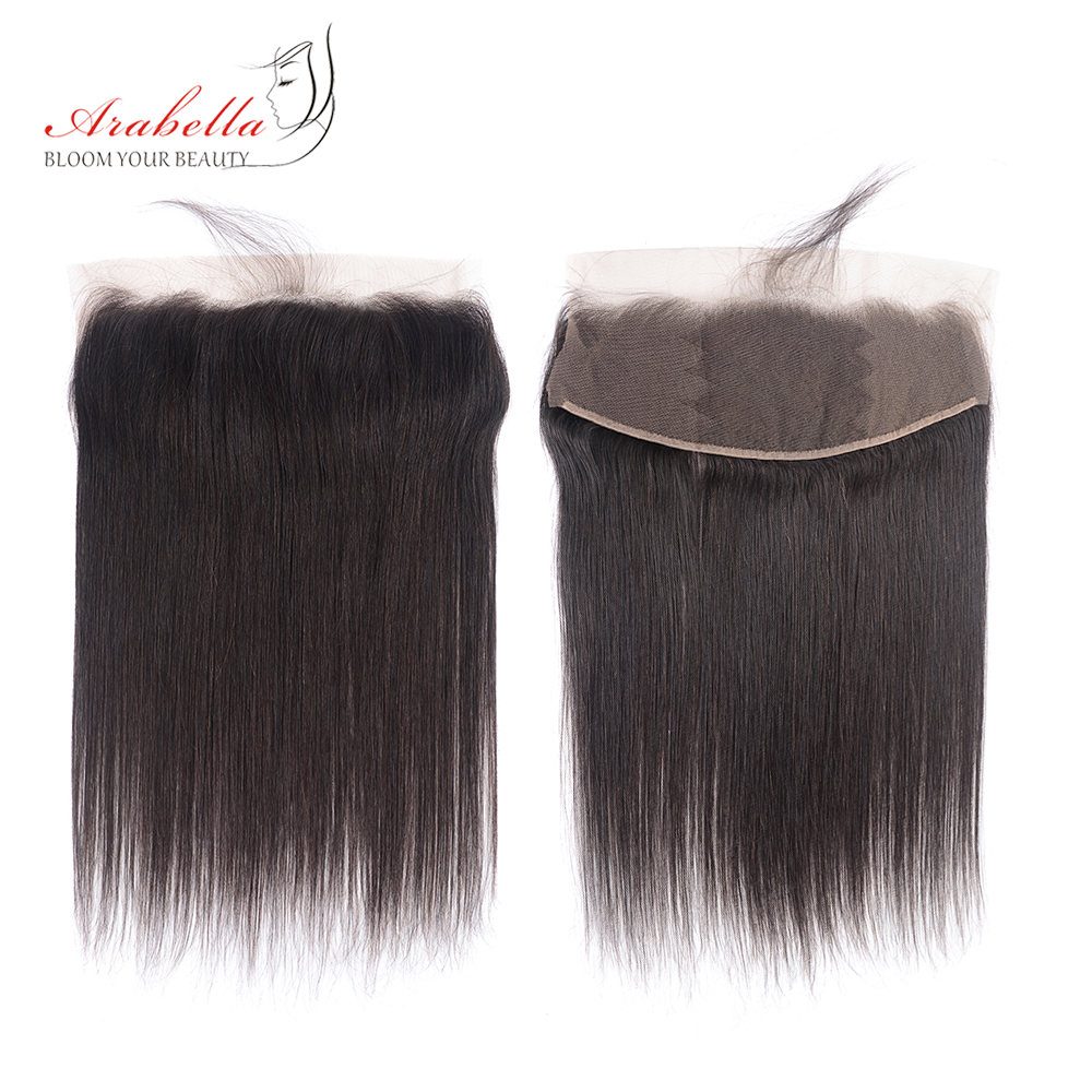 Bundles With Frontal  Straight Hair 100%  Bundles Arabella Pre Plucked Lace Frontal With Bundles 3