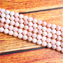 Top powder opal Natural Stone Bead Round Loose Spaced Beads 15 Inch Strand 4/6/8 / 10mm For Jewelry Making DIY Bracelet Necklace
