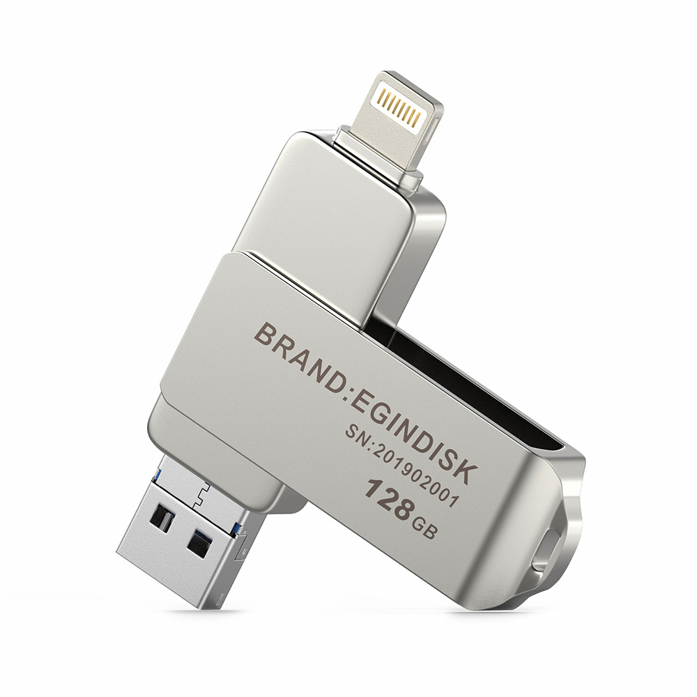 Lightning USB Flash Drive For iPhone//iPad External Storage Support iOS 8 Above