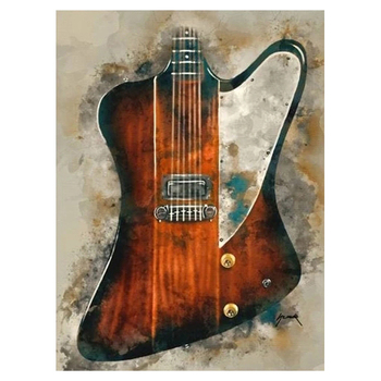Wall Art Graffiti Painting Rock Guitar Printed on Canvas 57