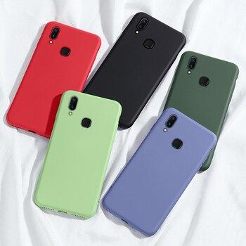 Перейти на Алиэкспресс и купить Для Huawei Y6S Y9S чехол Y5 Y6 Y9 S Y7 Pro Prime 2019 жидкий силиконовый противоударный мягкий чехол для телефона для Huawei Y5p Y6p Y7p чехол