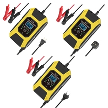 FOXSUR – chargeur de batterie 12V 7A à 7 niveaux, pour voiture, moto, EFB, GEL humide, AGM