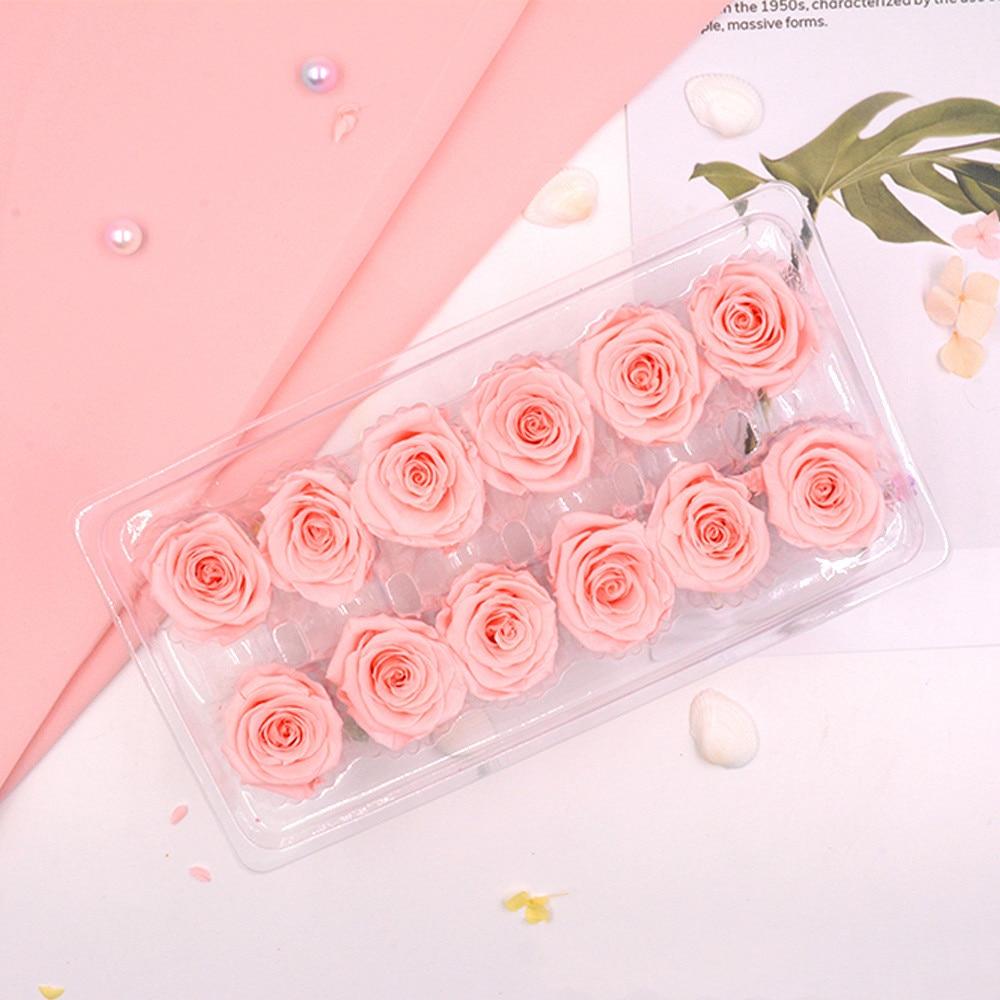 12 шт./лот высококачественные консервированные цветы Lmmortal розы диаметр 3-4 см розы цветы украшение для дома вечная жизнь цветок