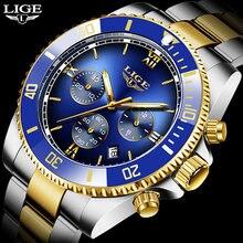 2020 новые модные мужские часы lige Топ бренд Роскошные спортивные