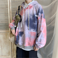 купить Autumn New Camo Hoodies Men Fashion Tie Dyed Casual Hooded Sweatshirt Men Hoodie Streetwear Hip Hop Loose Pullover Man Hoody по цене 2065.31 рублей