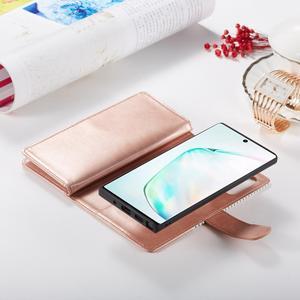 Image 4 - 9 karte Halter Brieftasche Fall für Samsung Galaxy Note 10 Plus Hinweis 9 S10 S9 S8 Plus S10E Flip Leder abnehmbare Magnet Telefon Fall