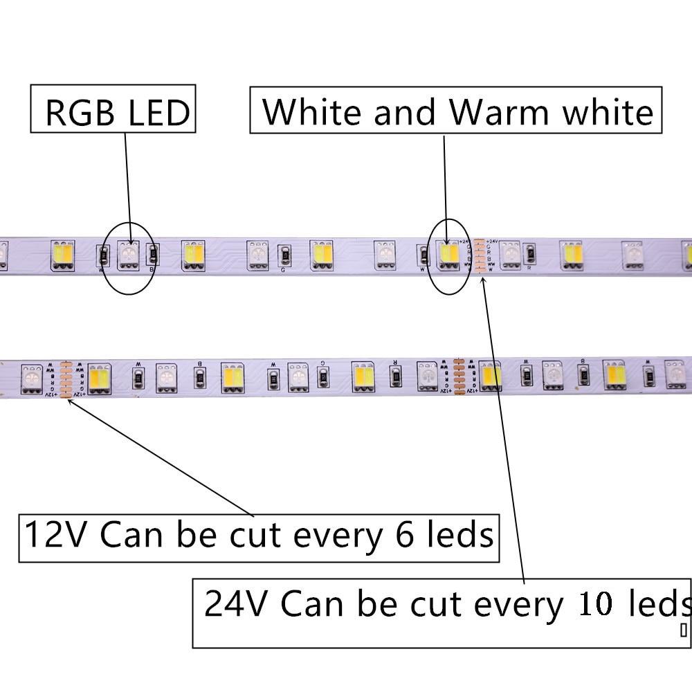 Ha9fbb18019b94d388e3860b34ec9bfbbZ SMD 5050 RGB LED Strip Waterproof 5M 300LED DC 12V 24V CCT RGBCCT  RGBW RGBWW WHITE WARM WHITE Fita LED Light Strips Flexible
