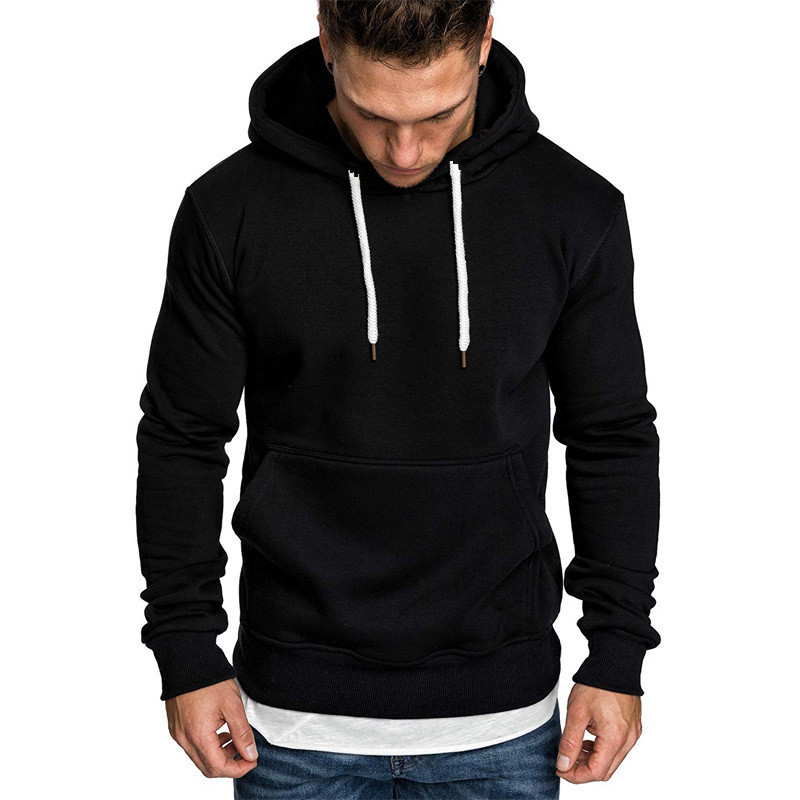 Casual Sportswear Men's Solid Color Fashion Hooded Sweatshirt + Sports Pants Men's Casual Training Custom Logo Track Suit