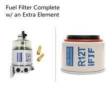 R12T Kraftstoff/Wasser Separator Filter für Racor 140R 120AT S3240 NPT ZG1/4 19 Komplette w/eine Zusätzliche Filter Element