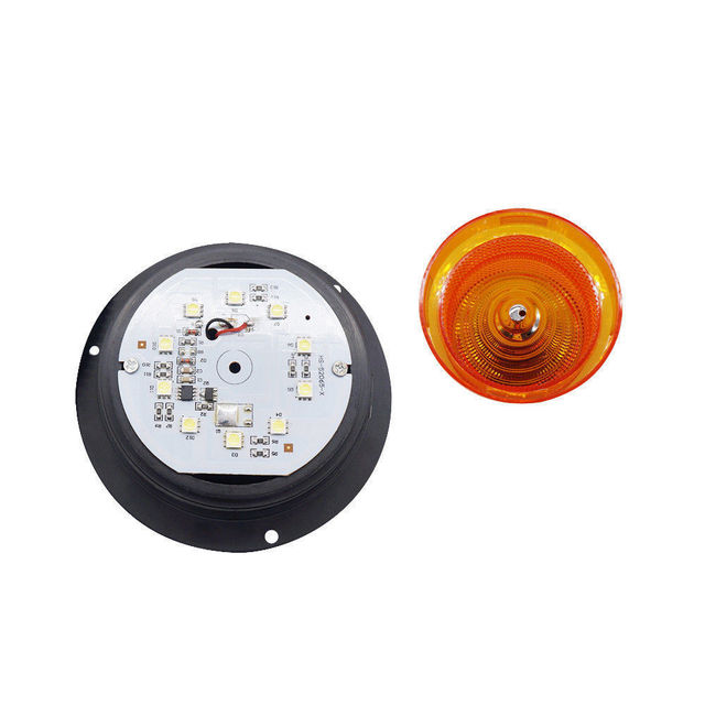 Emergency Flash Strobe Lamp Car Rotating Traffic Safety Warning Lights School Lights Led Yellow Round Ceiling Box Flash Lights 2