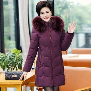 Image 1 - בתוספת גודל 5XL 2020 חורף מעיל נשים ארוך מעיל מקרית פרווה צווארון חורף מעייל דובון סלעית חם למטה מעיל הלבשה עליונה