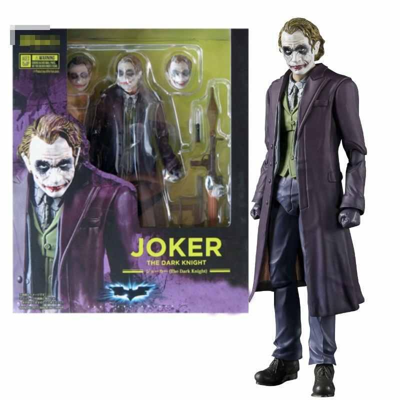 Joker Gambar Kartun Dark Knight PVC Action Figure Koleksi Model Mainan Anak