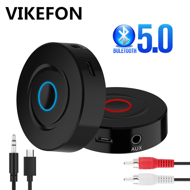 VIKEFON Bluetooth 5.0 Receiver and Transmitter 2in1 RCA 3.5MM AUX Jack Audio Music Stereo Wireless Adapter For Speaker TV Car PC