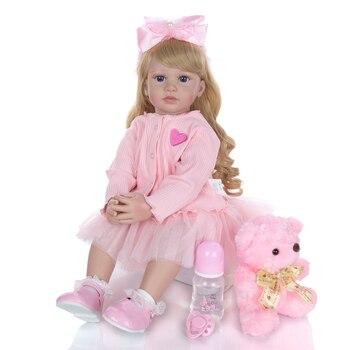 KEIUMI Lovely Bebe reborn Menina 24'' Realistic Princess Soft Silicone Reborn Baby Dolls 60 cm DIY toy For kids Luxury Sets Gift