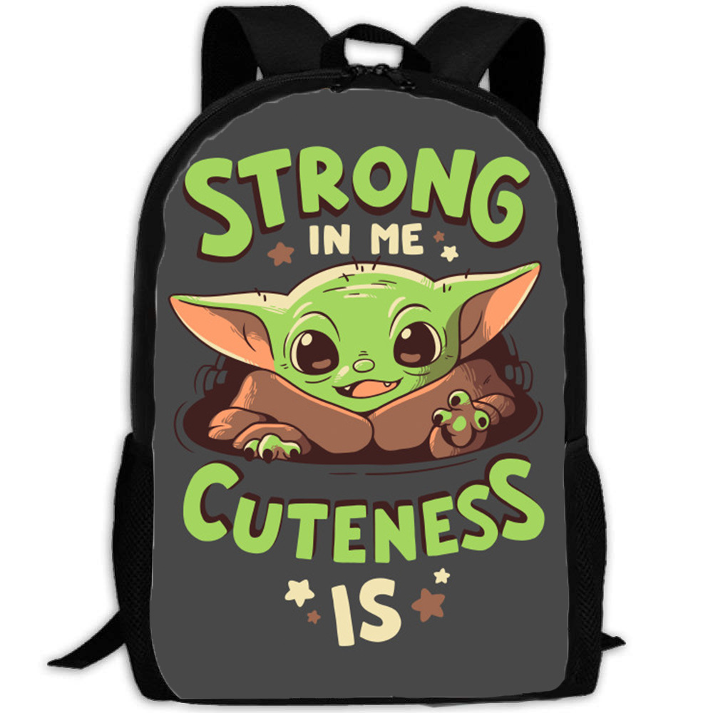 Baby Yoda Backpack TV Series Mandalorian Fiction Poster Printed Computer Backpack Teenage Girls Boys Clothing Accessories