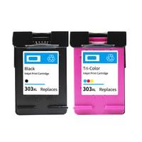 Vilaxh 303XL Compatible Ink Cartridge Replacement For HP 303 xl 303xl Envy Photo 7130 7134 7830 6220 6230 6232 6234 Printer
