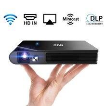 Caiwei mini projetor dlp portátil, suporte tela do telefone móvel espelhamento filme ao ar livre, projetor 3d para 1080p