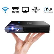 CAIWEI MINI przenośny projektor DLP wsparcie ekran telefonu komórkowego Mirroring Outdoor Movie projektor 3D dla 1080P tanie tanio Automatyczna korekcja CN (pochodzenie) 16 09 1280x720 dpi 3500 lumenów 40-120 cali 5001 1-8000 1 projektor do filmów
