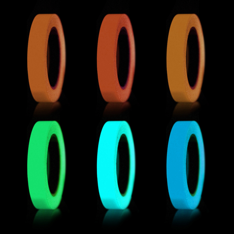 Luminous Tape Self-adhesive Tape Night Vision Glow In Dark Safety Warning Security Stage Lighting Home Decoration Tapes
