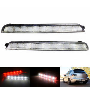 Red Lens Bumper Reflectors LED Backup Brake Reversing Taillight For Mazda3 04-09 Mazdaspeed3 Axela BK5P BKEP BK3P(China)