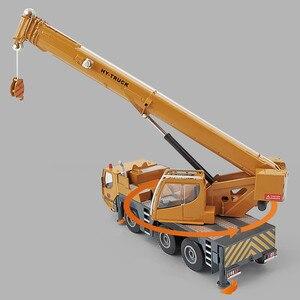 Image 5 - Modelo de aleación de grúa de alta calidad 1:50 rueda pesada, coche de juguete de ingeniería deslizante de metal de simulación, regalo educativo, envío Gratis