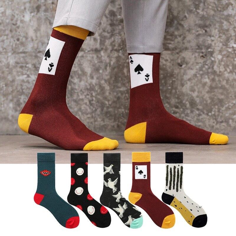 Men's Fashion Hip Hop Street Socks Cartoon Stockings Card Delivery Socks