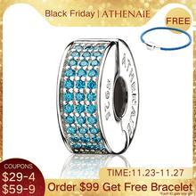 ATHENAIE 926 Silber Clip Spacer Pflastern CZ Emaille Charme Fit Alle Europäischen Armbänder Halskette